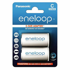 Panasonic Eneloop Adapter AA R6 nach C R14 für 1xAA 2er Blister BQ-BS2E/2E