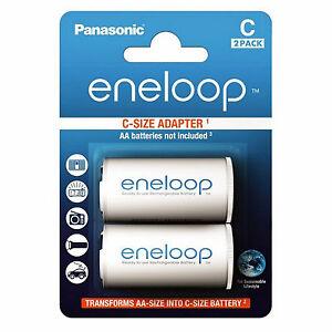 Panasonic Eneloop Adapter AA R6 nach C R14 Baby für AA - 2er Blister BQ-BS2E/2E