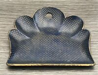 Victorian Papier Mache Crumb Tray Dustpan Blue With Gold Stars