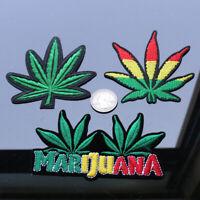 19577 Highway 4:20 420 Hemp Weed Pot Stoner Marijuana Leaf Bud Sew Iron on Patch