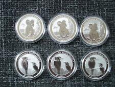 6 x 1 Oz Silber   Kookaburra / Koala Australien 2017  Münzen in Originalkapsel