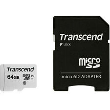 Transcend Micro SD XC 64GB UHS-1 Class 10 Memory for Drones, Gopro Hero, Dashcam