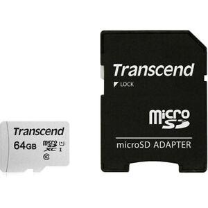 Transcend Micro SDXC 64GB UHS-1 Class 10 Memory for Drones, Gopro Hero, Dashcam