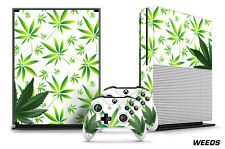 Designer Skin for XBOX ONE S 1S Gaming Console+2 Controller Sticker Decal WEEDS