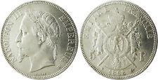 NAPOLEONE III 5 FRANCHI ARGENTO TESTA LAUREATA 1868 BB STRASBURGO