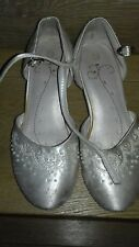 bhs wedding collection girls communion bridesmaid flower girl shoe sandals uk 13