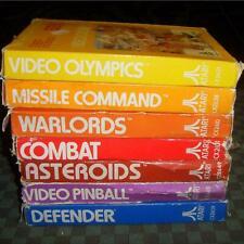 Lot Atari 2600 VCS boite Warlords Asteroids Defender Missile Command Pinball
