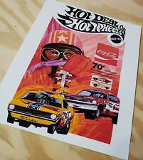 Hot Wheels Coca Cola offer Ad Poster Reproduction Mongoose Snake