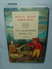 "2014 FIRST EDITION RITA MAE BROWN HARDCOVER BOOK ""LET SLEEPING DOGS LIE"""