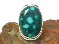 Tibetan  TURQUOISE  Sterling  Silver  925 Gemstone  RING  - Q -  Gift  Boxed!