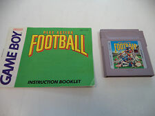 Play Action Football (Nintendo Game Boy) Cartridge & Instruction Booklet Only
