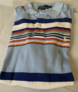 Polo Ralph Lauren Shirt Xlarge classic striped blue
