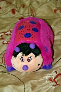 Pillow Pets Dream Lites - Purple Pink Lady Bug Night light ceiling projector