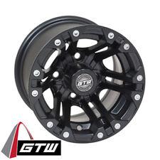 (1) Golf Cart Gtw Specter 10 inch Matte Black Wheel With 3:4 Offset