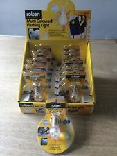 Job Lot 12 x Rolson Multi Coloured Flashing Keyring Torch Lights
