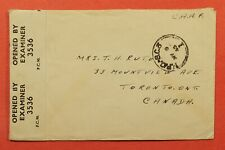 Dr Who 1945 Caaf Fpo Sc 3 To Canada Wwii Censor Free Frank 173796