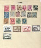 Austria Stamps on Album Page Including 1946 Vienna Horses set Mint