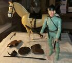 MARX (JOHNNY WEST) BRAVE ERIK & VIKING NODDING HORSE W/COMPLETE BLACK TACK