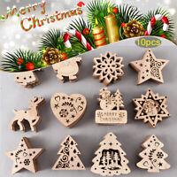 Gifts Santa Claus Christmas Tree Decoration Xmas Hanging Wooden Ornaments