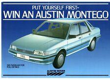 Win An Austin Montego Competition 1984 UK Market Leaflet Brochure