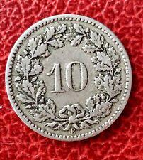 Suisse -  Très Jolie monnaie de  10 Rappen  1898