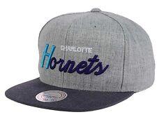 Charlotte Hornets Mitchell & Ness Tri Pop Script Gray Snapback Hat Cap NBA