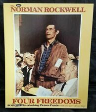 Jaymar 800 Piece Norman Rockwell FOUR FREEDOMS FREEDOM OF SPEECH Puzzle!