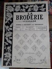 ANCIEN JOURNAL LA BRODERIE LYONNAISE N°1106 1954 VINTAGE EMBROIDERY PATTERNS