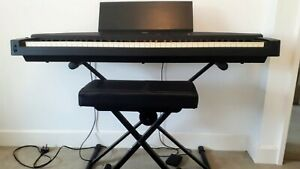 Yamaha YPP-55 Keyboard with stand, stool, cover and instruction manual