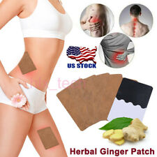 12x Patch Ginger Neck Pad Body Detox Knee Pain Relief Health Care Herbal 2019