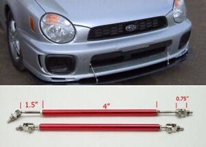 "Red 4"" Adjustable Rod Tie Support for Honda Acura Bumper Lip Diffuser Spoiler"