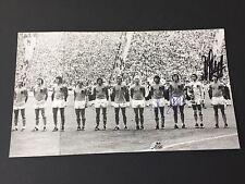 WM 1974 Vize-Weltmeister (CRUYFF-HAAN-RENSENBRINK)  signed Foto 10x17,5 RAR