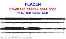 2 FLADEN 7ft VANTAGE HI CARBON 2pc BOAT RODS FOR SEA FISHING UPTIDE TROLLING