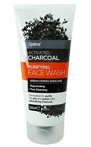Optima Activated Charcoal Purifying Face Wash Pore Cleansing Skin Care - 200ml