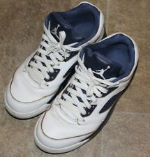 size 40 b1933 b43d8 Nike Air Jordan Retro V 5 Low DUNK FROM ABOVE Gold Navy size 8 Men s