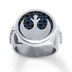 Men's Star Wars Ring Rebel Alliance Stainless Steel Size 10