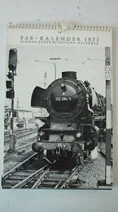 FdE - Kalender 1971 Europäischer Eisenbahn Kalender   B-15369