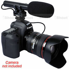 DC/DV Stereo Microphone MIC for Canon Nikon Sony Digital Camera Video Camcorder