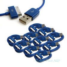 10 PCS USB SYNC DATA POWER CHARGER CABLE NEW IPAD IPHONE IPOD CLASSIC TOUCH BLUE