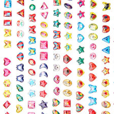31× Kids Crystal Stick on Earrings Sheet Party Bags Filler Kids Decorate Crafts