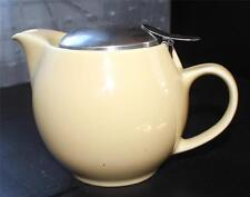 Vintage Zero Japan Stoneware Yellow Teapot stainless steel infuser&removable Lid