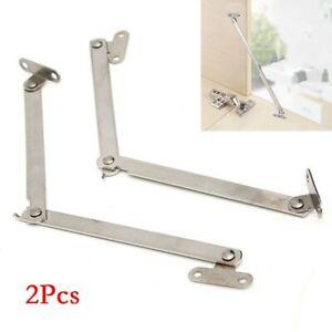 2x Kitchen Cabinet Cupboard Door Lift Up Strut Lid Flap Stay Support-Hinge Kit