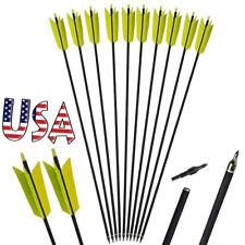 10X Archery arrow nocks for fiberglass shaft OD 8mm white green CPEV