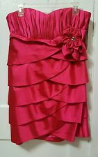 Women's Cinderella Divine Hot Pink Strapless Gown Party Dress Prom Size XL