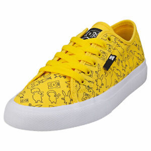 DC Shoes Bob's Burgers Manual Womens Mustard Fashion Trainers - 6 US