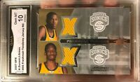 Super Rare KEVIN Durant Rookie Card SPX Tandems Jersey Relic 2007 Gem Mint 10