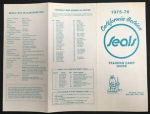 1975-76 California Golden Seals Training Camp Guide Rare Oakland Hockey in OR/UT