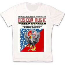 Moscow Music Peace Festival Ussr Poster Retro Vintage Hipster Unisex T Shirt 977