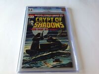 CRYPT OF SHADOWS 8 CGC 9.4 WHITE PAGES AWESOME COVER MARVEL COMICS