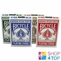 4 DECKS BICYCLE HERITAGE SERIES SET THEORY 11 PLAYING CARDS MAGIC TRICKS USA NEW